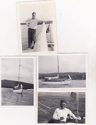 4 Old Photo Iwa Inland Waterways Association Chairman Lionel Munk Yacht Boats