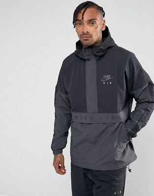 Nwt Men s Nike Air Anorak Jacket Hooded Half Zip Windbreaker 861634 010 Sz  Small eef5c2577308