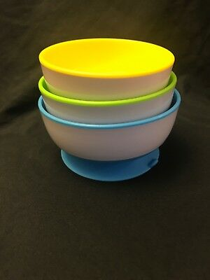 Munchkin Stay Put Suction Bowl, 3 Count, USED, FREE SHIPPING. BABY. 6+ MONTHS