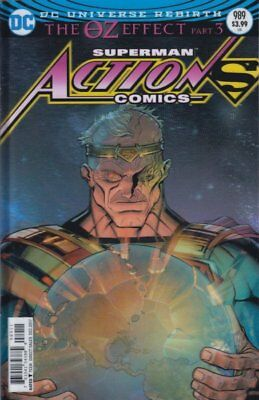 Action Comics Issue 989 - Lenticular Variant Cover Dc Comics Superman Oz Effect