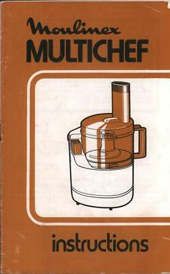 Moulinex Multichef Instructions booklet mixer