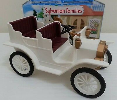 Calico Critters Sylvanian Families White Wedding Car Vintage Style Classic BOXED