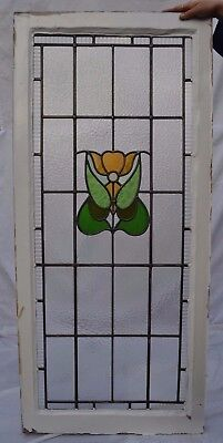 1 English stained glass leaded light window panel. R623.