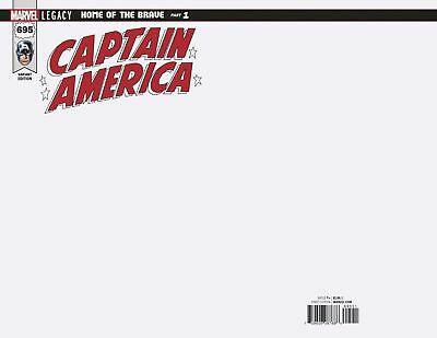 Captain America Issue 695 - Blank Cover Variant - Mark Waid Marvel Legacy