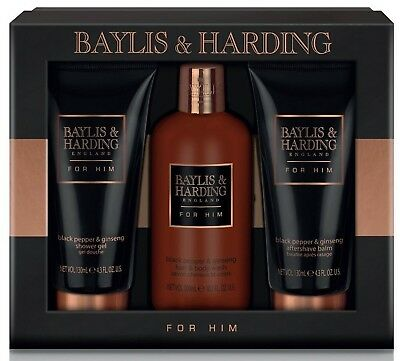 Baylis & Harding Grooming Trio Black Pepper and Ginseng Fathers Day 2018
