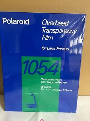 Polaroid 1054 Overhead Transparency Film for Laser Printer 50 Sheets 8.5x11