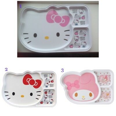 Lovely Hello Kitty /My Melody Melamine 3 Parts Divided Plate for Kids