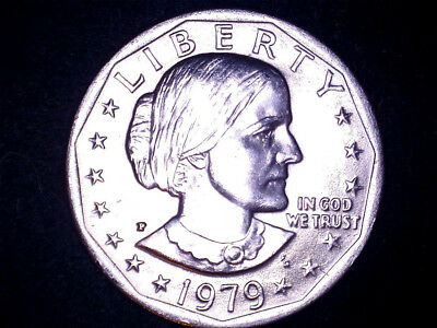 1979-P Susan B Anthony Scarce Wide Rim /Near Date variety Uncirculated