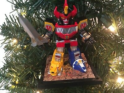 Power Rangers Christmas Tree.Mighty Morphin Power Rangers Christmas Ornament Megazord Red