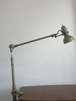 Vintage French Industrial Machinist Lumina Clamp Lamp 20th Century Lamp