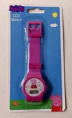 Peppa Pig LCD Digital Watch ORIGINAL LICENSE 100% COLOR PINK