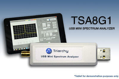 USB RF Spectrum Analyzer 8.15 GHz  - TSA8G1 by Triarchy Technologies