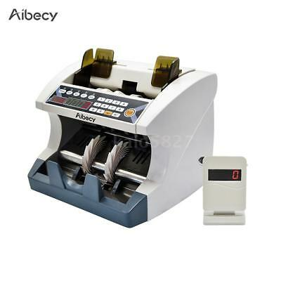 LED Display Money Bill Counter Banknote Automatic Counting Machine w/ UV MG M1O6