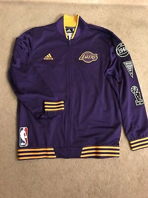 b49469351b0 Los Angeles Lakers Adidas Official 2015/2016 On-Court Warm-Up Jacket Purple