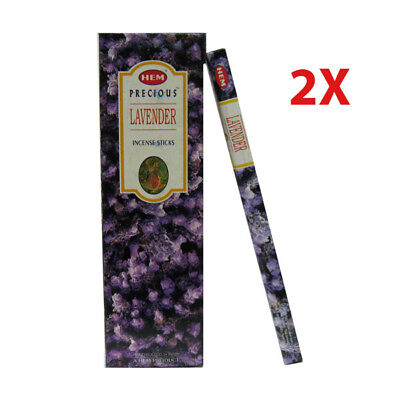 2X Bulk 120 x Incense Sticks - HEM Precious Lavender Relaxation Fragrance Odors