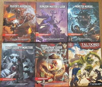 DUNGEONS AND DRAGONS 5th edition lot of 6 books (D&D 5e)