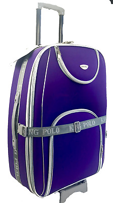 Fabric lite weight luggage travel case stylish suitcase sale 2 wheel strong!!!