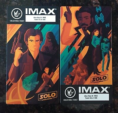 Solo: A Star Wars Story IMAX Collectable Ticket Week 1&2
