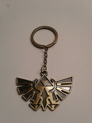 New Legend of Zelda Triforce Bronze Keychain