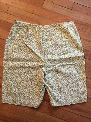 VINTAGE high waist side zip shorts HAND MADE floral 60's retro Large