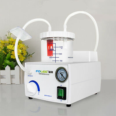 US Stock Medical Vacuum Phlegm Portable Quiet Suction Unit Aspirator Machine