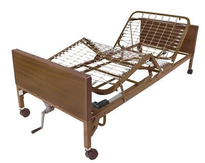 Drive Semi Electric Hospital Bed With Full Side Rails & Motor