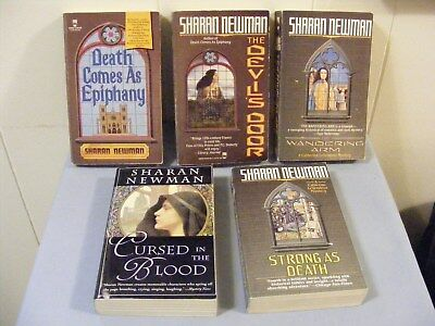 Lot of 5 SHARAN NEWMAN - Historical Mysteries - 12th Century FRANCE -1st 5 -pbs