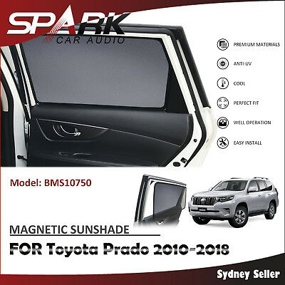 Ad Magnetic Car Window Sun Shade Blind Mesh Rear Door For Toyota Prado 2010-2018