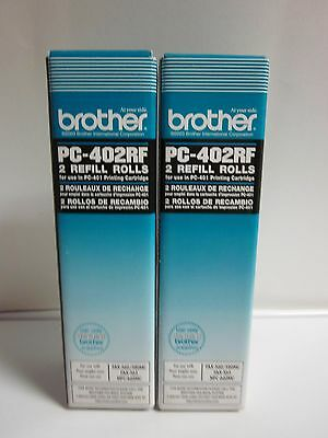 Lot of 2 Brother PC-402RF 2 Refill Rolls