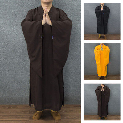 Shaolin Buddhist Monk Dress Meditation Haiqing Robe Kung fu Suit Soft Practical