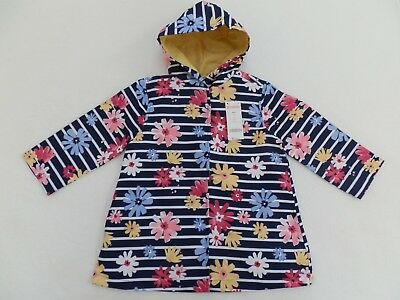 NEW! Gymboree Girls Raincoat Jacket sz 7/8 10/12 Wildflower Weekend Blue Floral