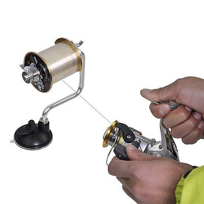 Portable Spooler Line Winder Spool Holder Fishing Reel Spooling Station UK STOCK