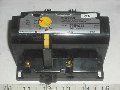 Furnas Solid State Overload Relay 90-180 Amp 600 Vac 3 Phase # 958Fa32B Trip B