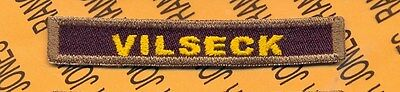 """US Army Armored Division """"VILSECK"""" Germany tab patch"""