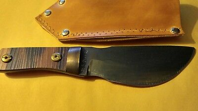 Custom Made Pot Belly Skinner High Carbon Steel With Leather Sheath L Or R Carry