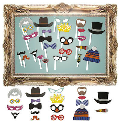 24pc Photo Booth selfie props + 1 gran juego Boda despedida de marco de foto