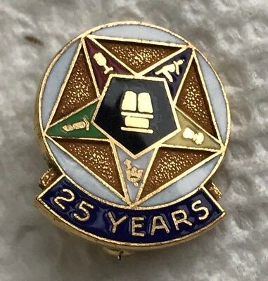 Vintage Oes Order Of The Eastern Star Sweater Guard Clip Fraternal
