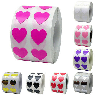 1000 Pcs/roll Love Heart Labels Stickers Gift Packaging Sealing Decal Stunning