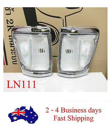 Indicator Park Corner Lamp Lights Chrome Clear For Toyota Hilux 4WD 11/91-9/97