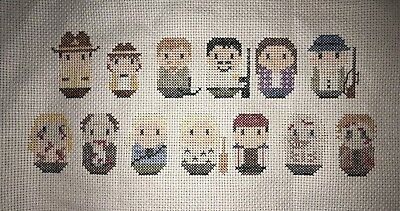 The Walking Dead - completed Cross-Stitch Panel.