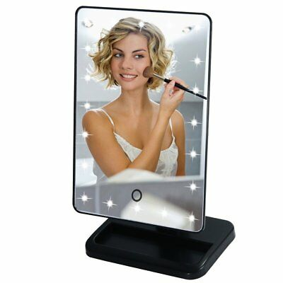 20LED Touch Screen Makeup Mirror Beauty Cosmetic Vanity Tabletop Light Up Mirror