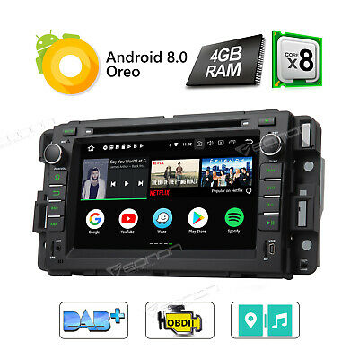 """Android 8.0 Car Stereo DVD GPS for Chevrolet GMC I Radio 7"""" WiFi 4G In Dash Head"""