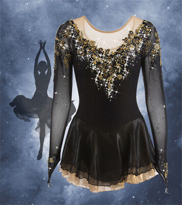 Girls Competition Ice Figure Skating Dress/Dance/Baton Twirling Rhinestone New