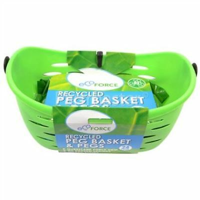 Ecoforce Recycled Peg Basket With 24 Pegs [Single] (5 Pack)