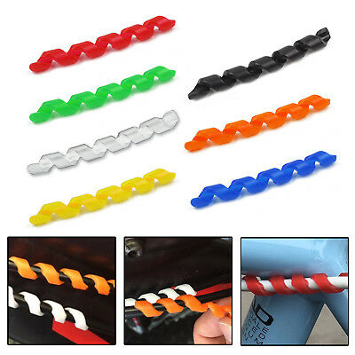 Spiral Soft Silicone Rubber Bike Frame Protector Cable Outer Brake Gear Hose Rub
