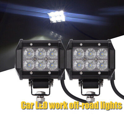 4inch 18W CREE LED Work Light Bar 4WD Offroad Flood Fog ATV SUV Driving Lamp New