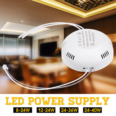 8W-40W Dimmable LED Driver Power Supply Adapter LED Lamp Panel Ceiling Light
