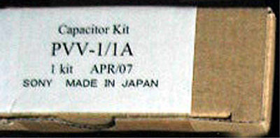 Sony PVV-1/1A Capacitor Kit genuine VCR VTR parts made in Japan