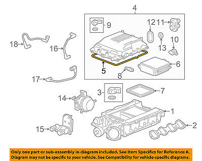 GM OEM SUPERCHARGER-COVER Assembly Gasket 12613457 - $31 30   PicClick