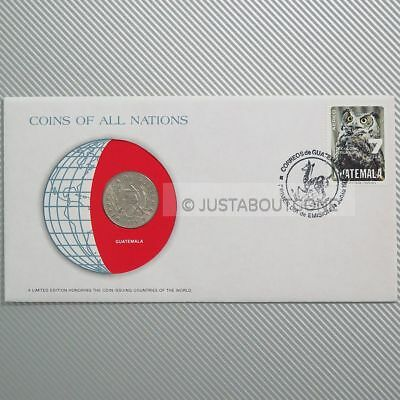 Guatemala 1979 25 Centavos Fdc Coins Of All Nations Uncirculated Stamp Cover Unc